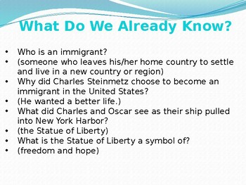 CKLA domain 11 lesson 3 Immigration