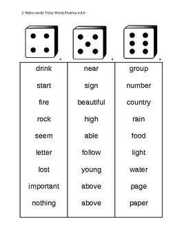 CKLA grade 2 tricky words fluency game