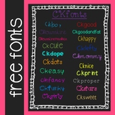 CKfonts 20 Free Fonts for Teachers! (Personal and Classroom Use)
