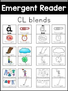 CL Blends Emergent Reader - Phonics Literacy Center