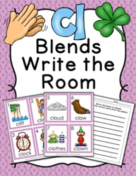 CL Blends Write the Room Activity