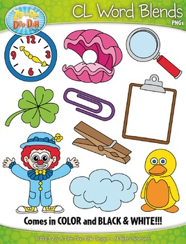 CL Word Blends Clipart Set — Includes 20 Graphics!