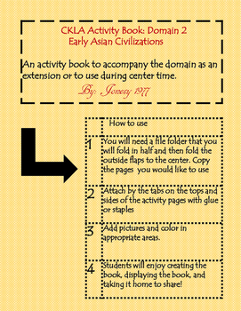 CKLA Domain 2: Early Asian Civilizations 2nd grade