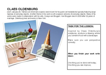 Claes Oldenburg Art Projects