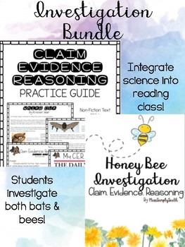 Claim Evidence Reasoning Reading Analysis BUNDLE