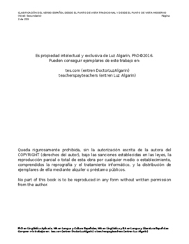 CLASIFICACIÓN DEL VERBO ESPAÑOL DESDE EL PUNTO DE VISTA TRADICIONAL Y MODERNO