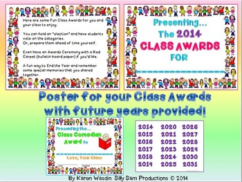 CLASS AWARDS AWESOME Kids Pack of SUPERLATIVES