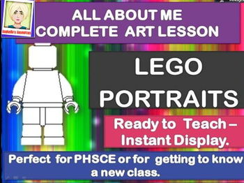 CLASS  COMPLETE ART LESSON - LEGO PORTRAITS