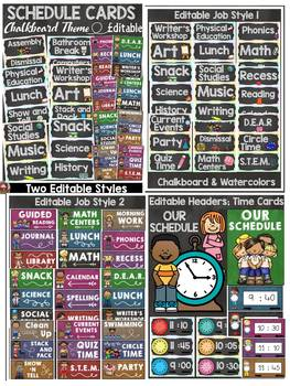 CLASS DECOR BUNDLE {JOBS, RULES, SCHEDULE, SUPPLY LABELS} CLASSIC CHALKBOARD