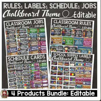 CLASS DECOR BUNDLE {JOBS, RULES, SCHEDULE, SUPPLY LABELS}