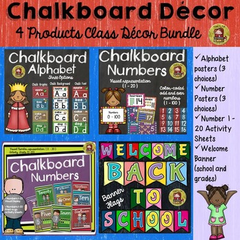 CLASS DECOR BUNDLE {LETTERS OF THE ALPHABET, NUMBERS 1-100