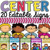 CLASS DECOR CENTER SIGNS: EDITABLE