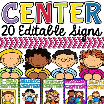 CLASS DECOR CENTER SIGNS: EDITABLE