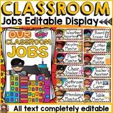 SUPERHERO THEME CLASS DECOR: EDITABLE CLASSROOM JOBS