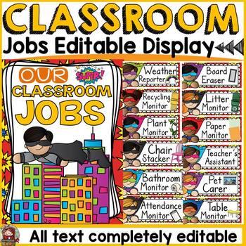 CLASS DECOR: CLASSROOM JOBS {Back to School}