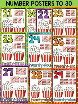 CLASS DECOR - NUMBERS 1-20 {HOLLYWOOD THEME}BACK TO SCHOOL