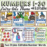 CLASS DECOR NUMBERS TO 20  {FAIRYTALE THEME}