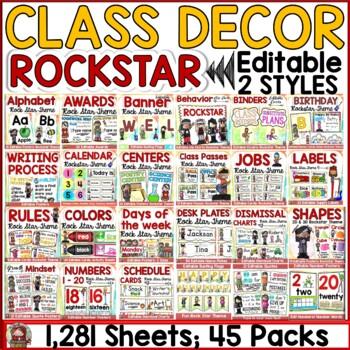 CLASS DECOR: ROCKSTAR