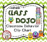 CLASS DOJO Behavior Clip Chart Behavior Management System {Editable}