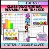 CLASS DOJO Digital/Virtual Rewards, trackers and invites o