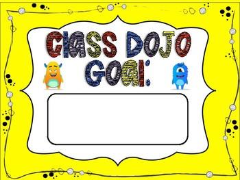 CLASS DOJO Goal Posters