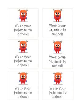 CLASS DOJO - Wear your pajamas to school!