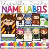 Harry Potter Hogwarts Name Labels/Desk Plates/Nameplates for Classroom Decor