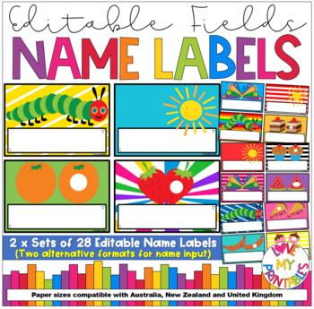 Nameplates - The Very Hungry Caterpillar Theme, Set of 28, A3 size