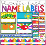 The Very Hungry Caterpillar Desk Plates/Name Labels for Classroom Decor