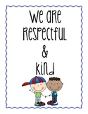 CLASS NORMS - ANCHOR CHARTS