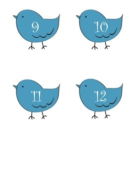 CLASS NUMBERS BIRDIE THEME