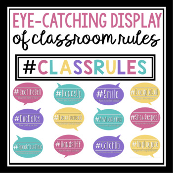CLASS RULES POSTERS - HASHTAGS