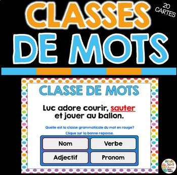 CLASSE DE MOTS - Ressource numérique - French BOOM CARDS