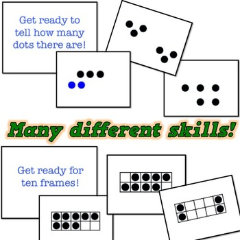 CLASSIC math game!  EDITABLE!  Shapes, number sense, ten frames, addition, more!