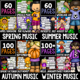 12 Month Listening Bundle!  318 Listening Sheets, Seasonal, Back to School