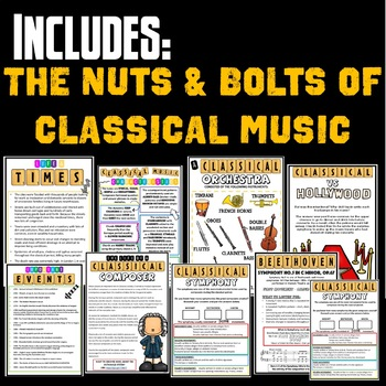 CLASSICAL MUSIC - UNIT ACTIVTIES BOOKLET