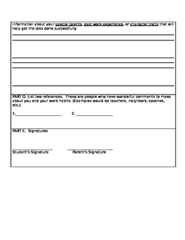 EMPLOYMENT APPLICATION- use with CLASSIFIED ADS