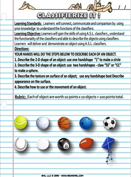 CLASSIFIERIZE THIS worksheet