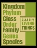 CLASSIFY LIVING THINGS (8X10)