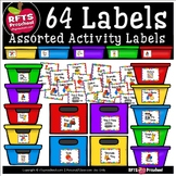 CLASSROOM ACTIVITY LABELS + EDITABLE RAINBOW LABELS