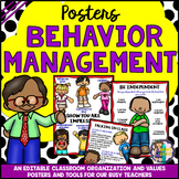 CLASSROOM BEHAVIOR MANAGEMENT POSTERS Editable (Back to School)