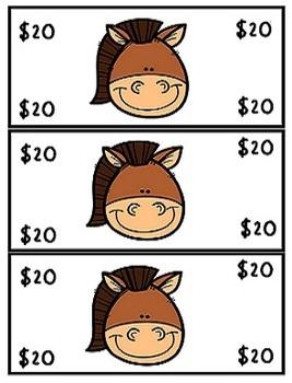 Farm Theme Play Money