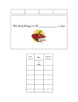 CLASSROOM BOOK SIGN-OUT PACKET
