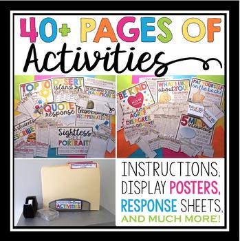 BACK TO SCHOOL ACTIVITIES: CLASSROOM CHALLENGE ACTIVITIES & BULLETIN BOARD