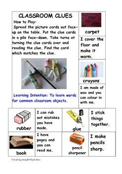 CLASSROOM CLUES