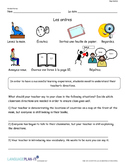 CLASSROOM COMMANDS (FRENCH)