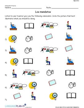 CLASSROOM COMMANDS (SPANISH)