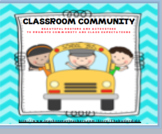 CLASSROOM COMMUNITY--BEAUTIFUL POSTERS AND ACTIVITIES TO P