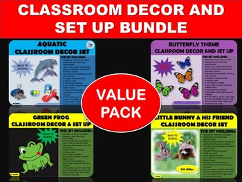 CLASSROOM DECOR AND SET UP BUNDLE (BACK TO SCHOOL VALUE PACK)