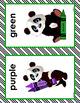 ALPHABET and COLOR POSTERS Panda Theme Classroom Decor Green Black Literacy